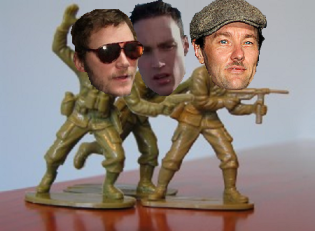 Zero Dark Thirty - plastic army men Bert Macklin, Drazic and Joel Edgerton kill Osama Bin Laden.