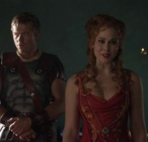 """Caesar (Todd Lasance) and Laeta (Anna Hutchison) - Spartacus: War of the Damned """"Spoils of War"""""""