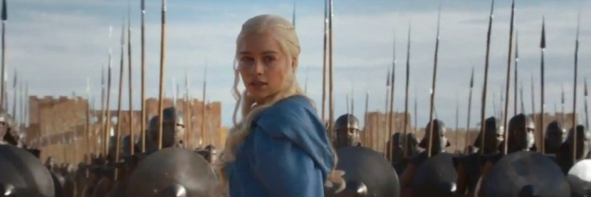 "Daenerys (Emilia Clarke) in Game of Thrones, Season 3, Episode 1: ""Valar Dohaeris"""