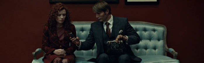 "Hannibal Episode 2 ""Amuse-bouche"" - Mads Mikkelsen and Lara Jean Chorostecki"