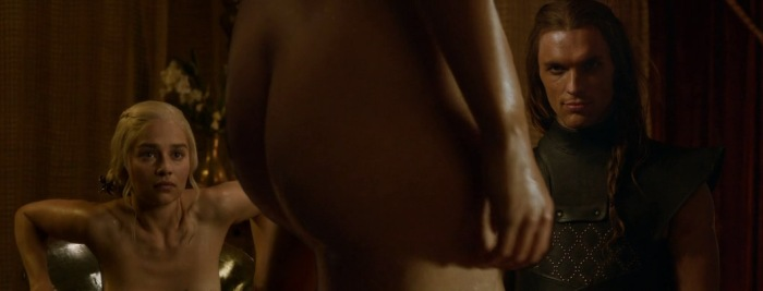 Daenerys Stormborn (Emilia Clarke) nude in Game of Thrones - Episode 8, Second Sons