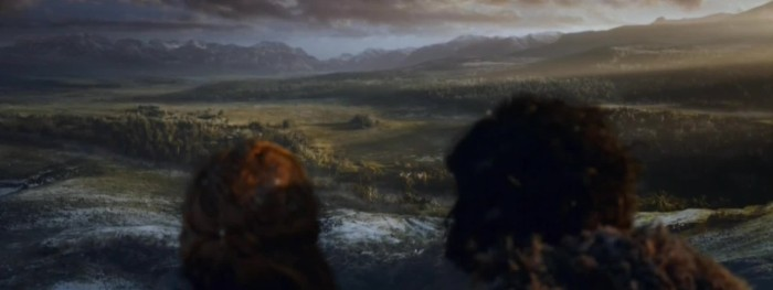"Jon Snow (Kit Harrington) and Ygritte (Rose Leslie) in Game of Thrones, Season 3, Episode 6 - ""The Climb"""