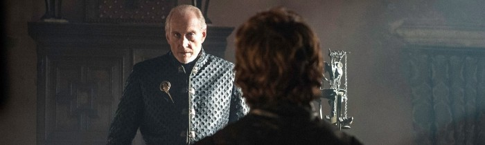 "Tywin (Charles Dance) and Tyrion (Peter Dinklage) in Game of Thrones, Season 3 Finale ""Mhysa"""