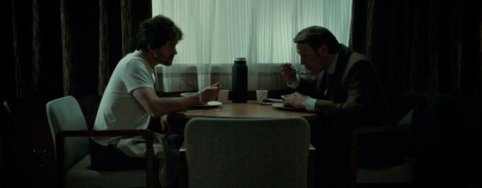 Hugh Dancy and Mads Mikkelsen in Hannibal Season 1 Episode 12