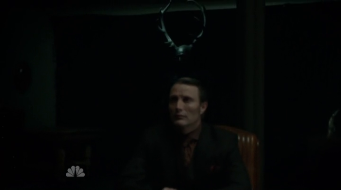 Hannibal - Season 1, Episode 13 - Hannibal Lecter (Mads Mikkelsen) with antlers
