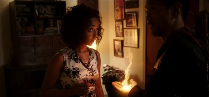 "Ruth Negga and Louis Changchien in Agents of SHIELD Season 1 Episode 5, ""The Girl in the Flower Dress"""
