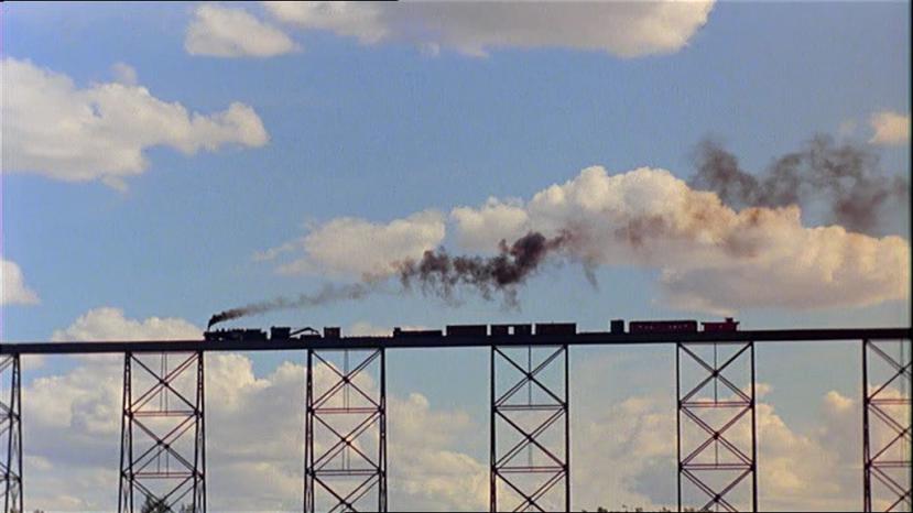 Train crossing a bridge in Days of Heaven