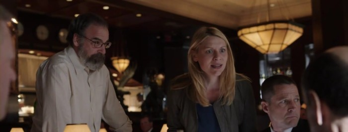 "Carrie (Claire Danes) and Saul (Mandy Patinkin) argue in Homeland Season 3 Premiere, ""Tin Man is Down"""