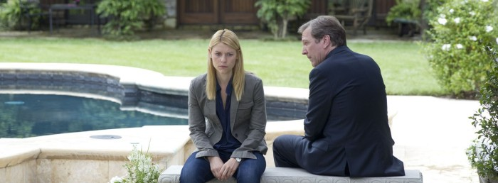 Claire Danes as Carrie Mathison and Martin Donovan as Leland Bennett in Homeland (Season 3, Episode 4)