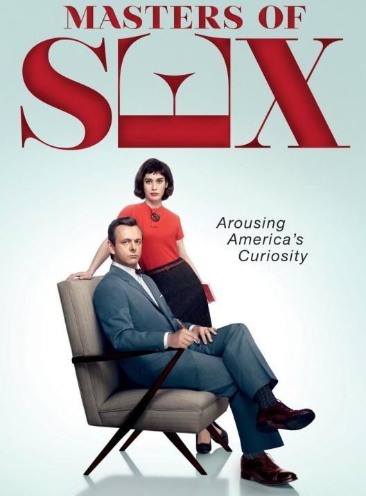 Masters of Sex poster with Michael Sheen and Lizzy Caplan