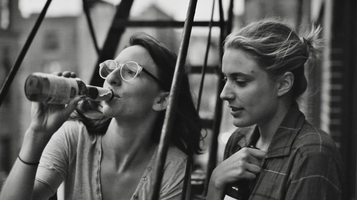 Greta Gerwig and Mickey Sumner in Frances Ha (2013)