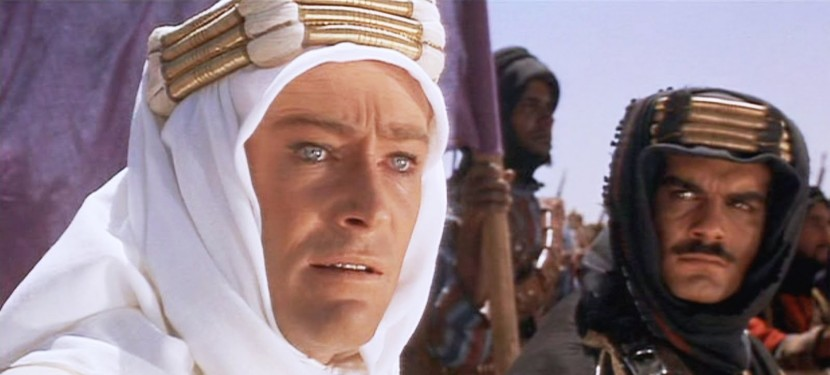 Peter O'Toole and Omar Sharif in Lawrence of Arabia (1962)