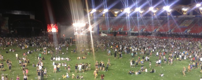 Big Day Out 2014 - crowd at Metricon stadium, Gold Coast