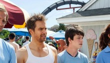 Nat Faxon, Sam Rockwell, Liam James and Maya Rudolph in The Way, Way Back (2013)
