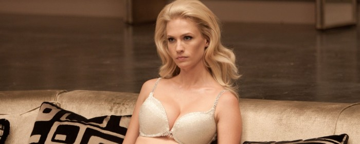January Jones in her underwear (naturally) in X-Men: First Class (2011)