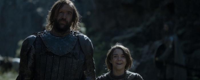 Game of Thrones, Season 4, Episode 8 - Arya laughing