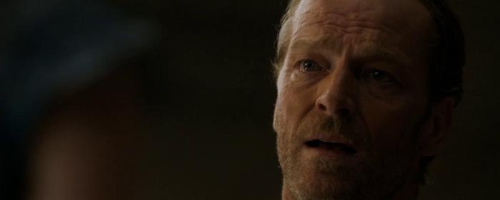 Game of Thrones, Season 4, Episode 8 - sad Jorah Mormont