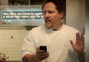 Jon Favreau using Twitter in Chef (2014)