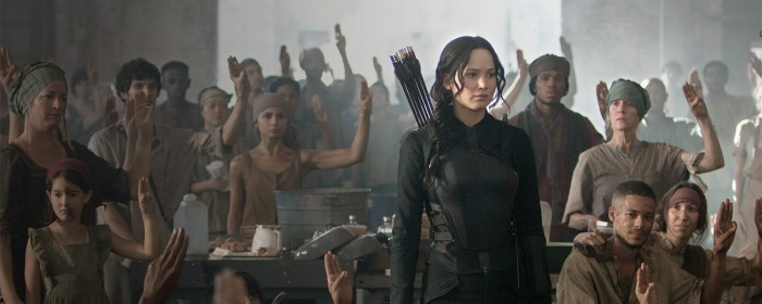 Jennifer Lawrence in The Hunger Games - Mockingjay - Part 1 (2014)