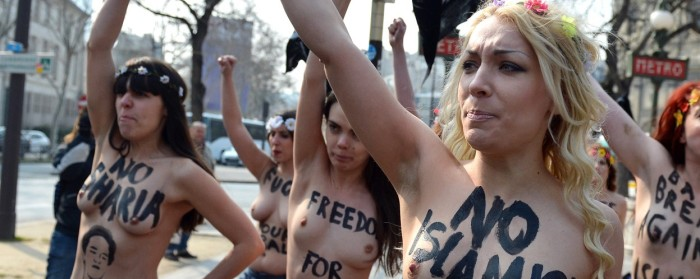 Inna Shevchenko and topless FEMEN protestors in Ukraine is Not a Brothel (2013)