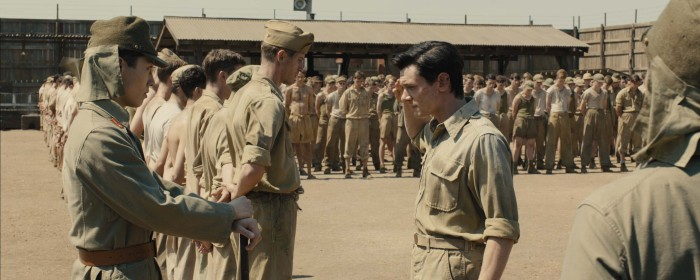 Jack O'Connell and Miyavi in Unbroken (2014)