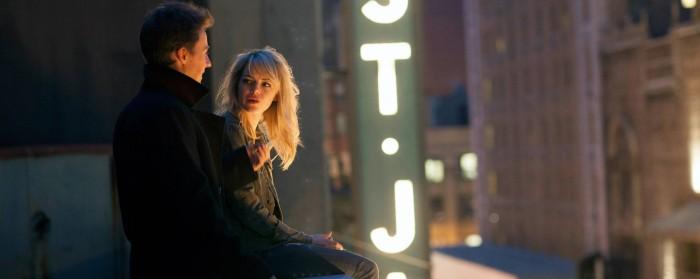 Edward Norton and Emma Stone in Birdman (2014)