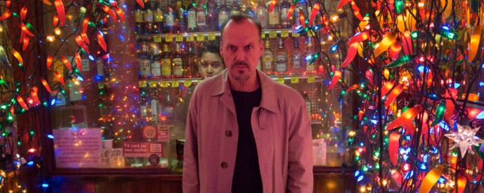 Michael Keaton amongst fairy lights in Birdman (2014)
