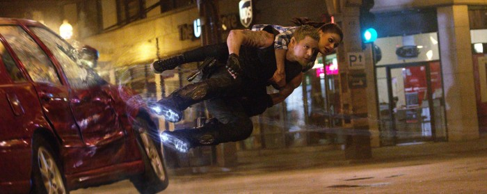 Mila Kunis and Channing Tatum in Jupiter Ascending (2015)