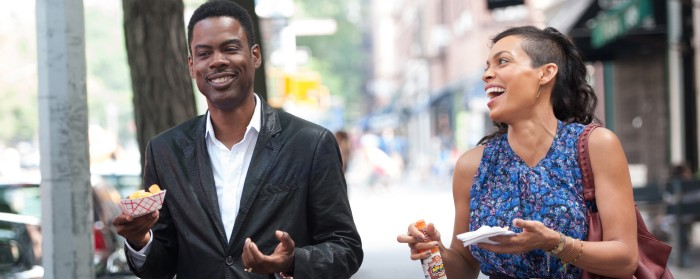 Rosario Dawson and Chris Rock in Top Five (2014)