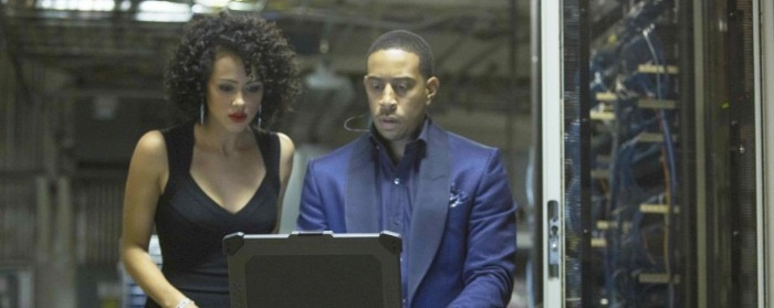 Nathalie Emmanuel and Ludacris in Furious 7 (2015)