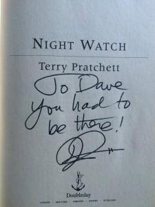 Terry Pratchett signature
