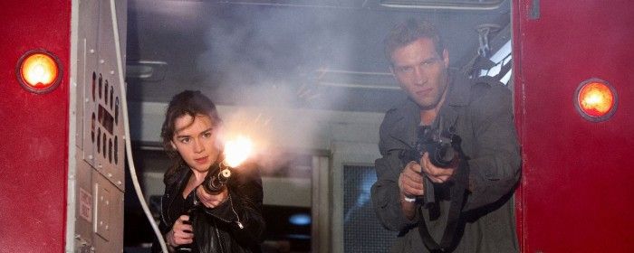 Jai Courtney and Emilia Clarke in Terminator Genisys (2015)