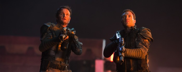 Jai Courtney and Jason Clarke in Terminator Genisys (2015)