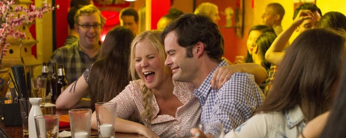 Amy Schumer and Bill Hader in Trainwreck (2015)