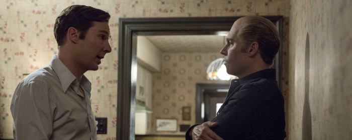Benedict Cumberbatch and Johnny Depp in Black Mass (2015)