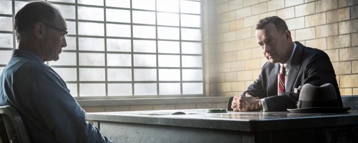 Mark Rylance and Tom Hanks in Bridge of Spies (2015)