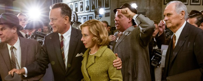 Tom Hanks and Amy Ryan in Bridge of Spies (2015)