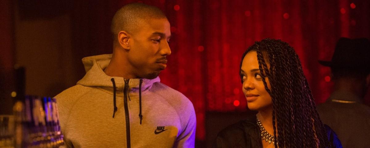 Michael B. Jordan and Tessa Thompson in Creed (2015)