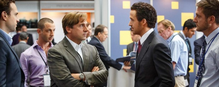 Ryan Gosling and Steve Carell in The Big Short (2015)
