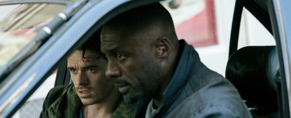 Idris Elba and Richard Madden in Bastille Day (2016)