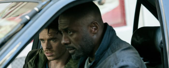 Idris Elba and Richard Madden in Bastille Day (2016)