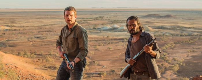 Aaron Pedersen and Josh Russell in Goldstone (2016)