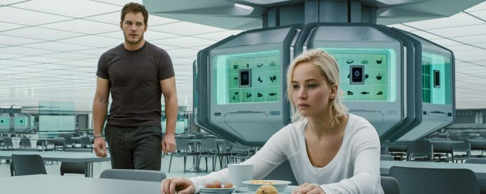 Jennifer Lawrence and Chris Pratt in Passengers (2016)