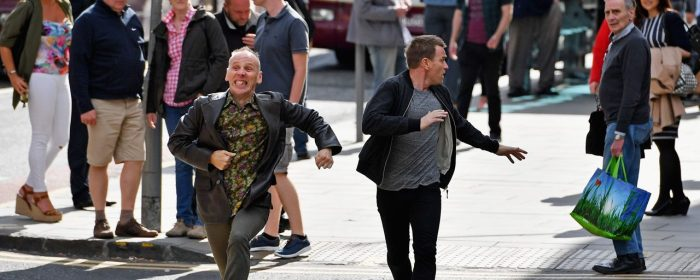 Ewen Bremner and Ewan McGregor in T2: Trainspotting