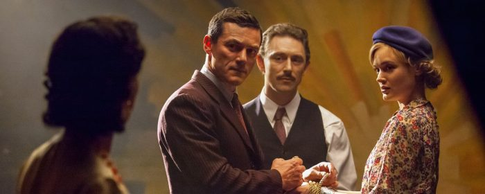 Bella Heathcoate, Luke Evans and Rebecca Hall in Professor Marston and the Wonder Women